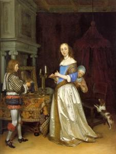 Gerard ter Borch, Dame bei der Toilette, 1660