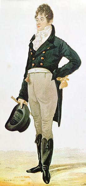 Der berühmte englische Dandy Beau Brummell 1800