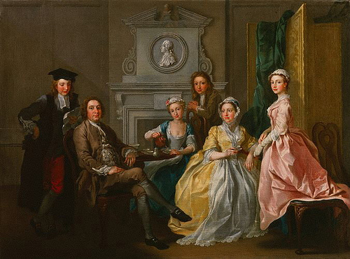 Francis Hayman Jonathan Tyers and his family, 1740