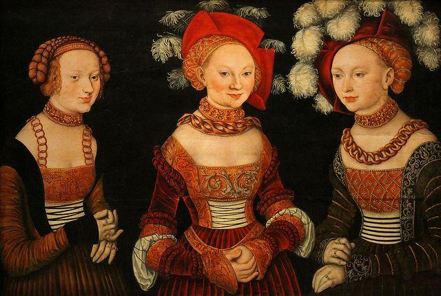 Prinzessinnen Sybilla, Emilia und Sidonie von Sachsen (1534)