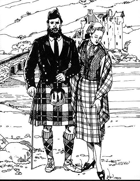 Schottische Kleidung für Damen und Herren (FW152) - Nehelenia Patterns
