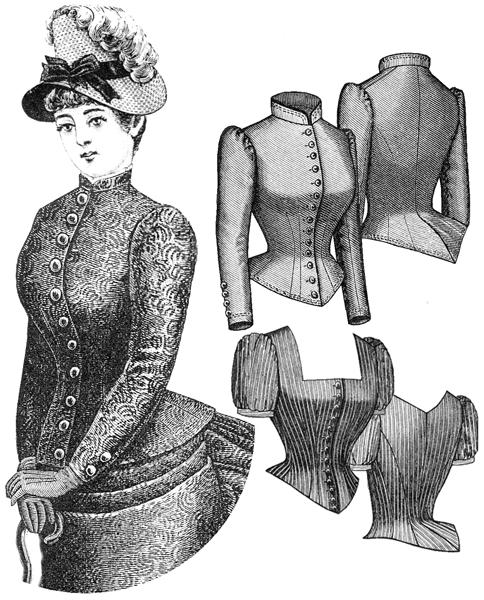 1885 Cuirass Bodice (TV460) - Nehelenia Patterns c8c073517