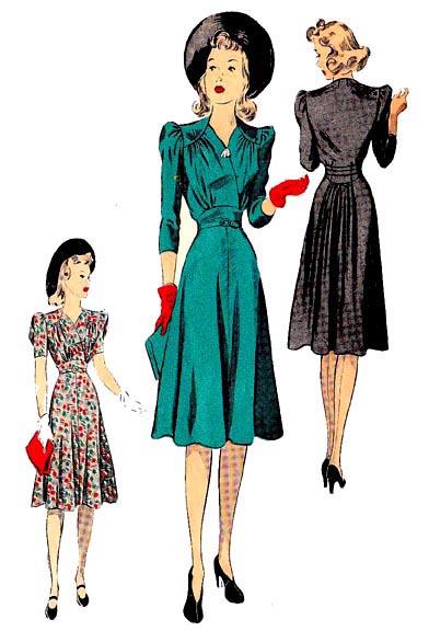 Kleid 1940 (ED5087) – Nehelenia Patterns