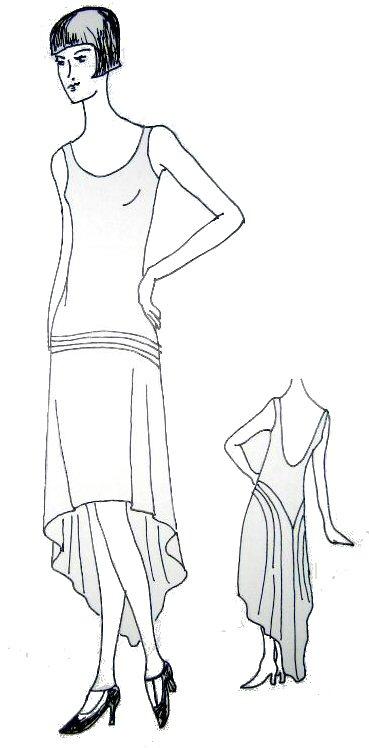 1920 kleid schnittmuster – Abendkleider beliebt in Deutschland 2018