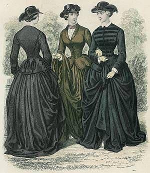 Reitkostüme 1860er Jahre