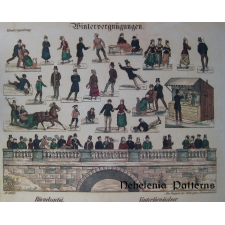 "Victorian Cut Out Sheet ""Winter Scenario"""