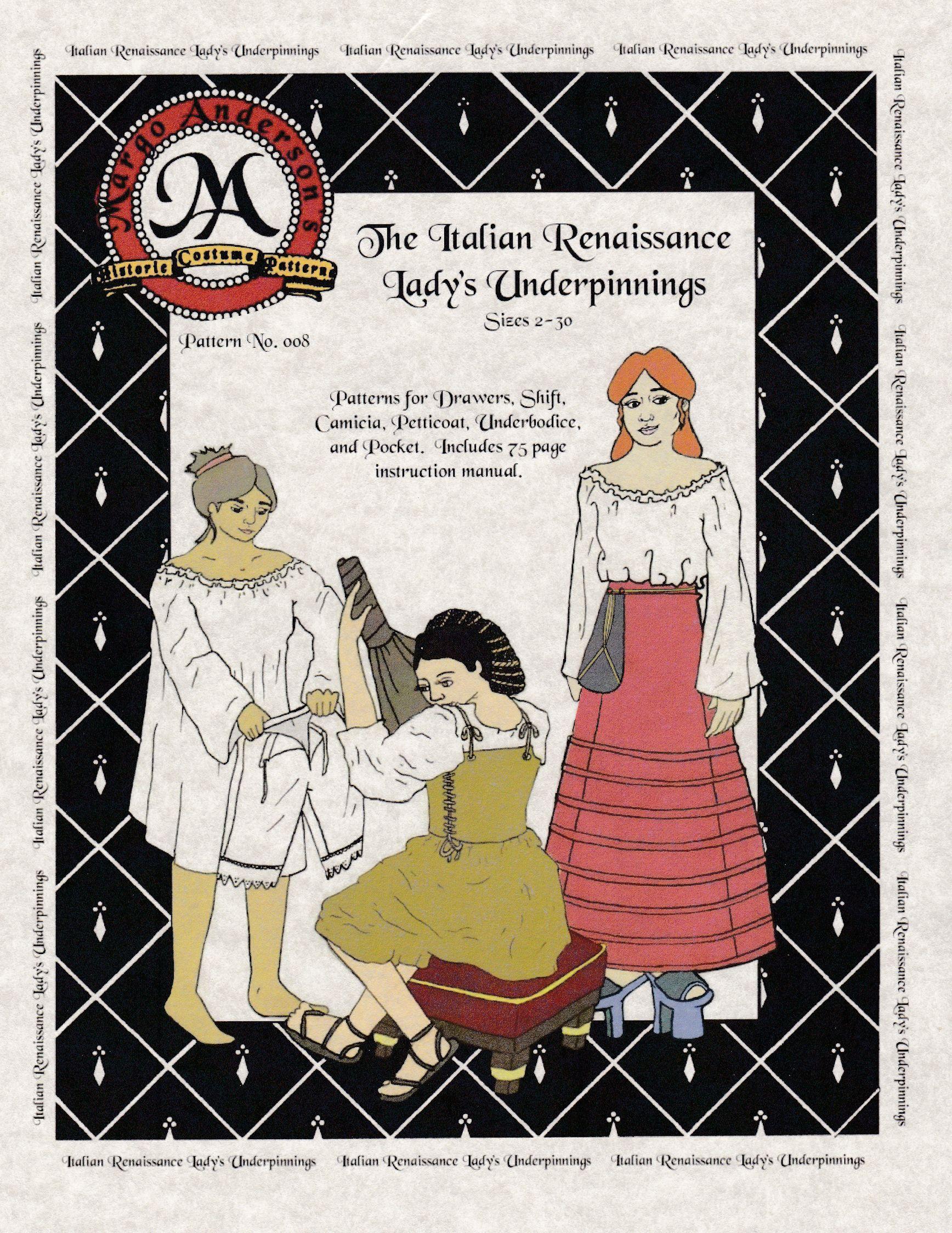 Italienische Renaissance Unterkleidung (MA008) – Nehelenia Patterns