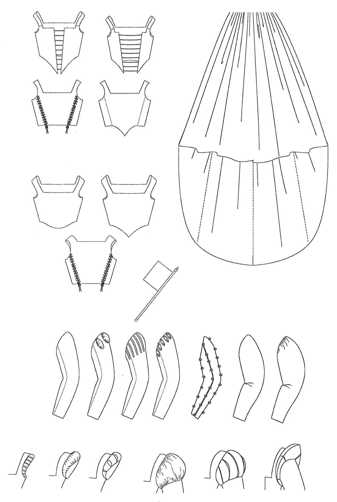 Italienische Renaissance Garderobe (MA009) – Nehelenia Patterns