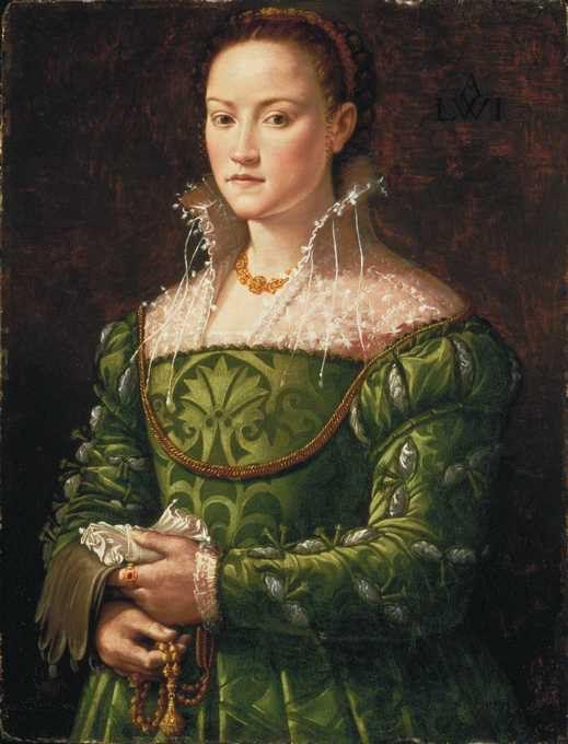 """Agnolo di Cosimo, """"Il Bronzino"""" (1502-1572) Portrait einer unbekannte Florentinerin, 1540er Jahre"""