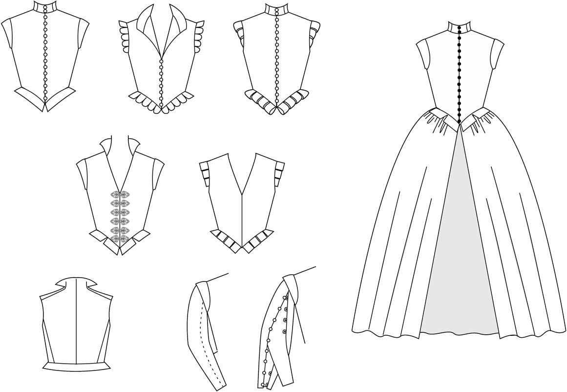 Damenwams und Kleid des 16. Jahrhunderts (MA010) – Nehelenia Patterns