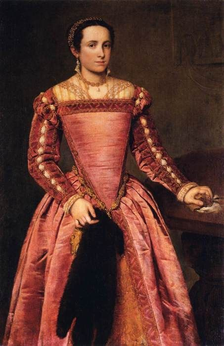 Dame im roten Kleid (ca. 1560) Giovanni Battista Moroni
