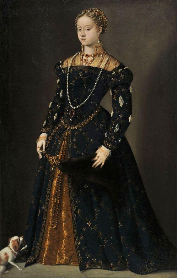 Catherine of Austria (1548-49) Tizian