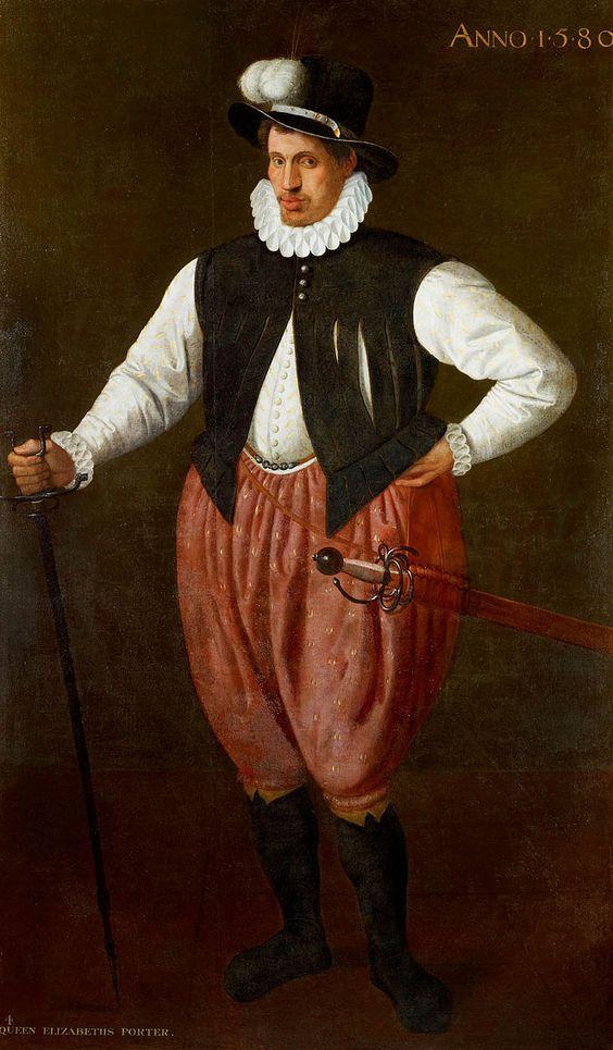 Ein riesenhafter Mann in den Diensten Elizabeth I. (1580)