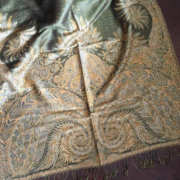 paisley shawl green
