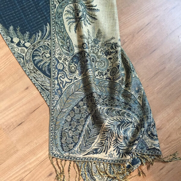 paisley shawl emerald